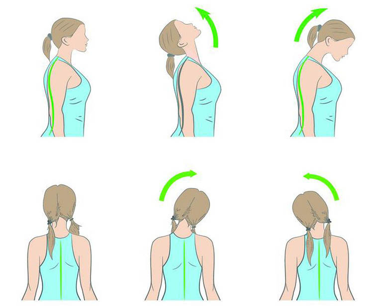 Áp dụng bài tập vận động cột sống cổ