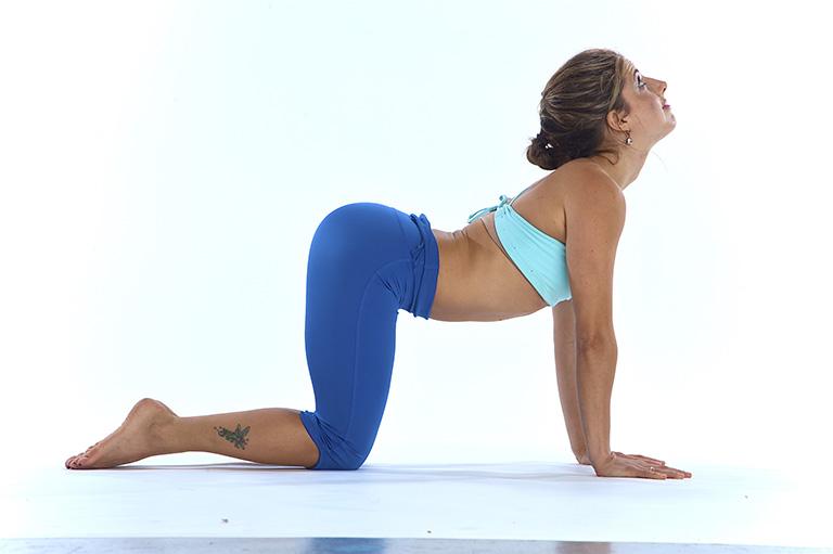 Bài tập yoga thư giãn khớp xương, cải thiện đau mỏi cột sống thắt lưng với tư thế Cat - Cow