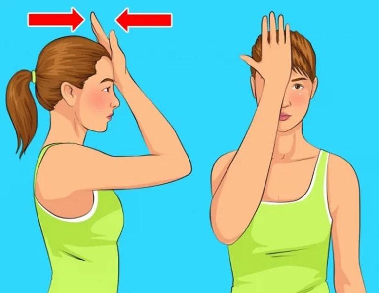Bài tập tác động mạnh vào cơ cổ phía trước