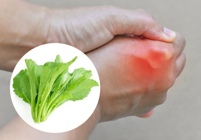 chữa bệnh gout bằng cải bẹ xanh