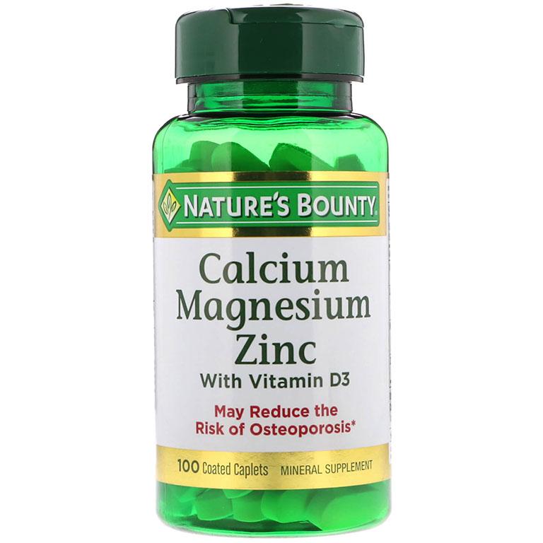 Viên uống Nature's Bounty Calcium Magnesium Zinc