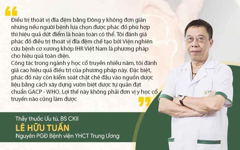 Bác sĩ Lê Hữu Tuấn đánh giá về hiệu quả bài thuốc xương khớp nghiên cứu bởi IHR Việt Nam