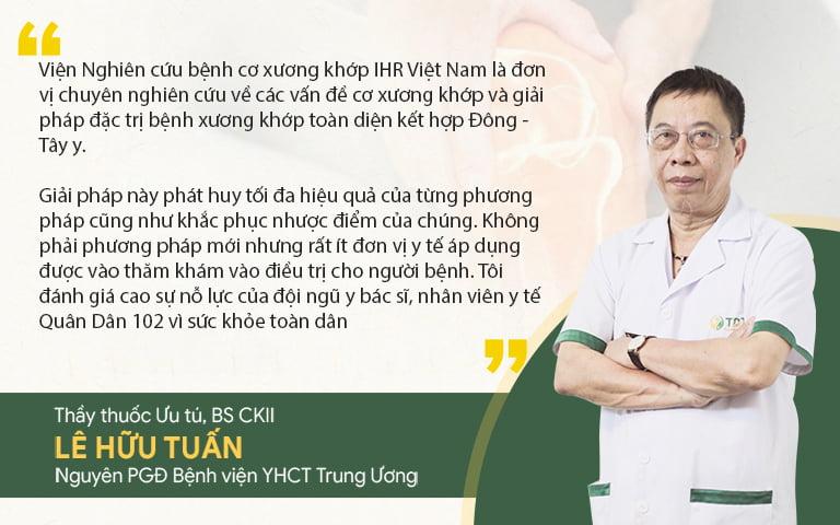 Bác sĩ Lê Hữu Tuấn đánh giá về bài thuốc