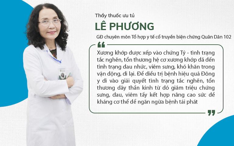 Thầy thuốc ưu tú, BSCKII Lê Phương chia sẻ về bài thuốc điều trị xương khớp
