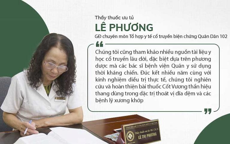 Bác sĩ Lê Phương chia sẻ về quá trình nghiên cứu bài thuốc xương khớp