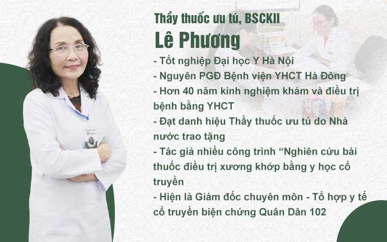 Thầy thuốc ưu tú, BSCKII Lê Phương là người thực hiện chính trong dự án nghiên cứu bài thuốc