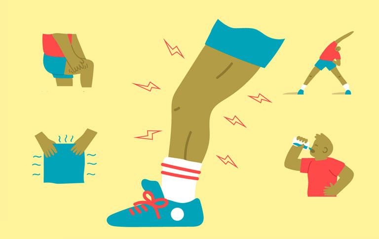 chuột rút bắp chân khi chơi thể thao