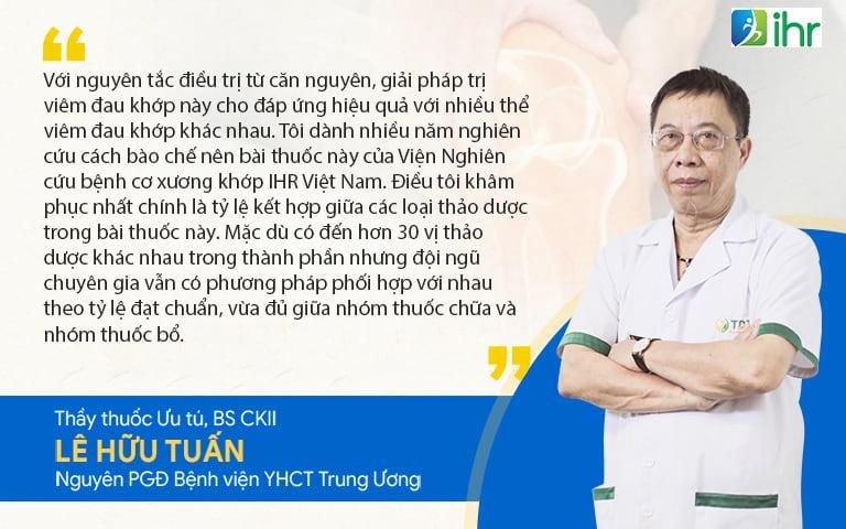 Thầy thuốc ưu tú, BSCKII Lê Hữu Tuấn