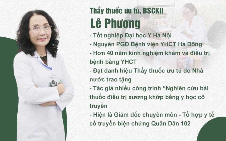 Bác sĩ Lê Phương - Người chịu trách nhiệm dự án nghiên cứu bài thuốc xương khớp