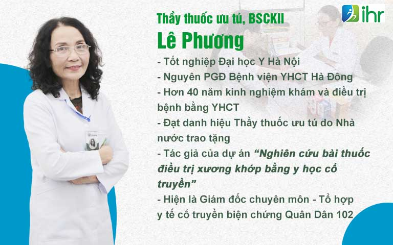 Bác sĩ Lê Phương - Người đứng đầu dự án nghiên cứu bài thuốc Cốt Vương thần hiệu thang