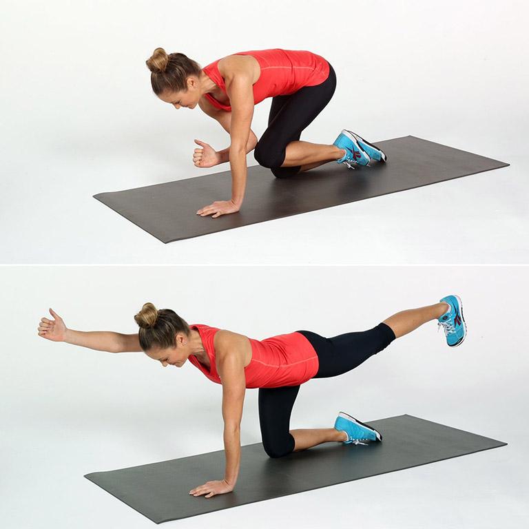 Bài tập yoga tư thế chó chim
