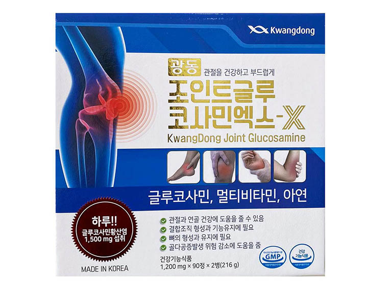 Viên uống bổ khớp Glucosamin Kwangdong của Hàn