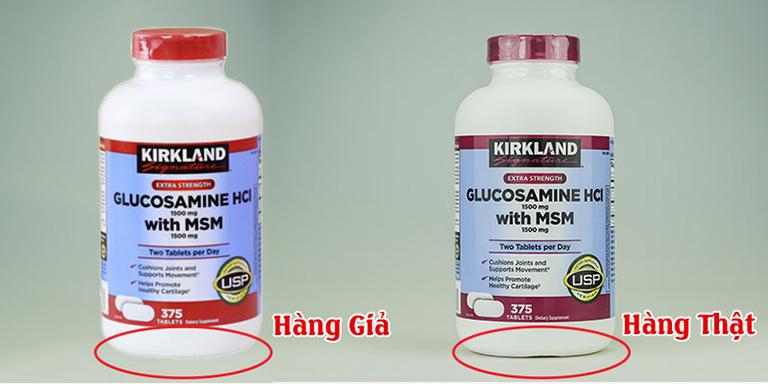 Cách phân biệt Kirkland Glucosamine hàng thật và giả