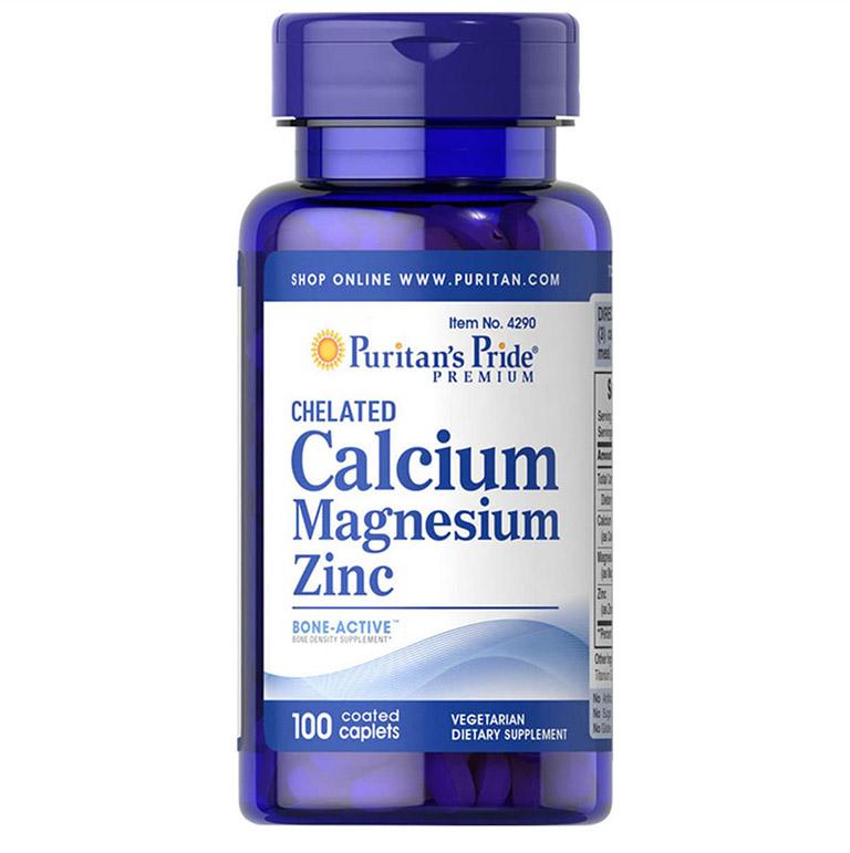 Viên uống Puritan's Pride Calcium Magnesium Zinc